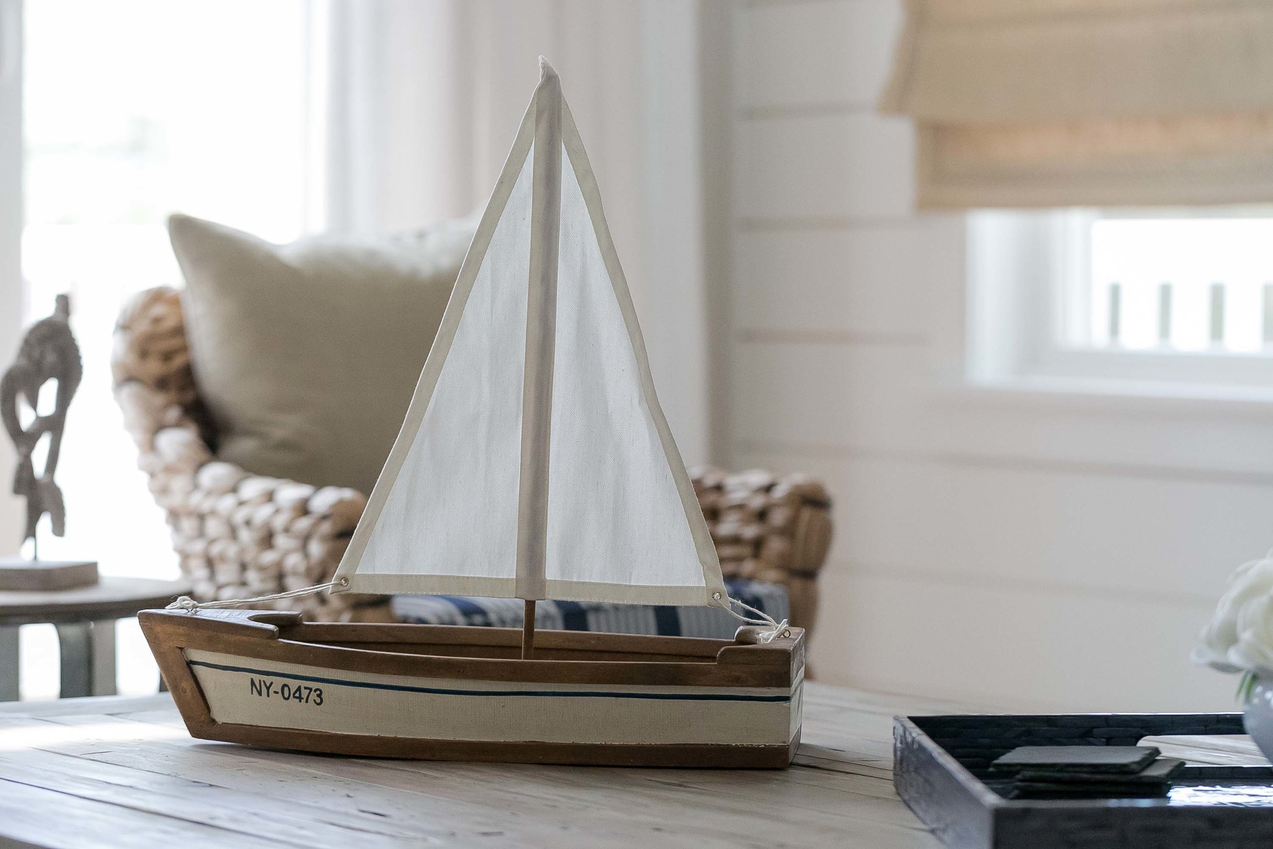 Wooden sailboat accessory