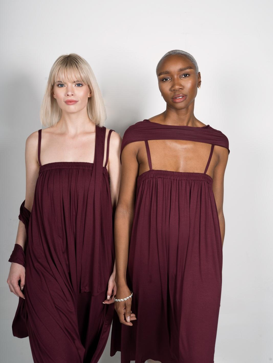 infinity drape customizable jersey dress