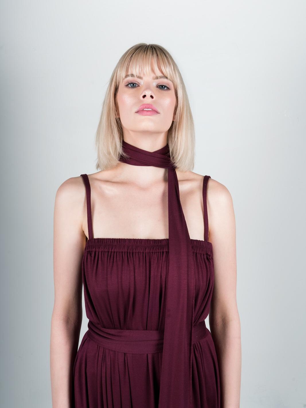 modal+spaghetti+strap+dress+red