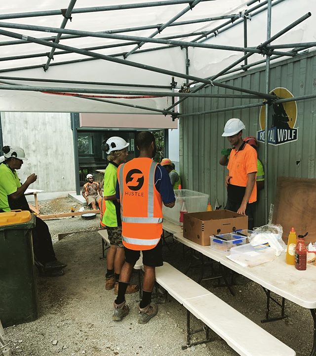 Site BBQ Friday's. This photo shows the last of 160 sausages, 4kg of ribs and 12 litres of drink!  #sitesafety #teamorange #hustlenewzealand #hustle #sitebbq #bbqaddiction #trailerontheway