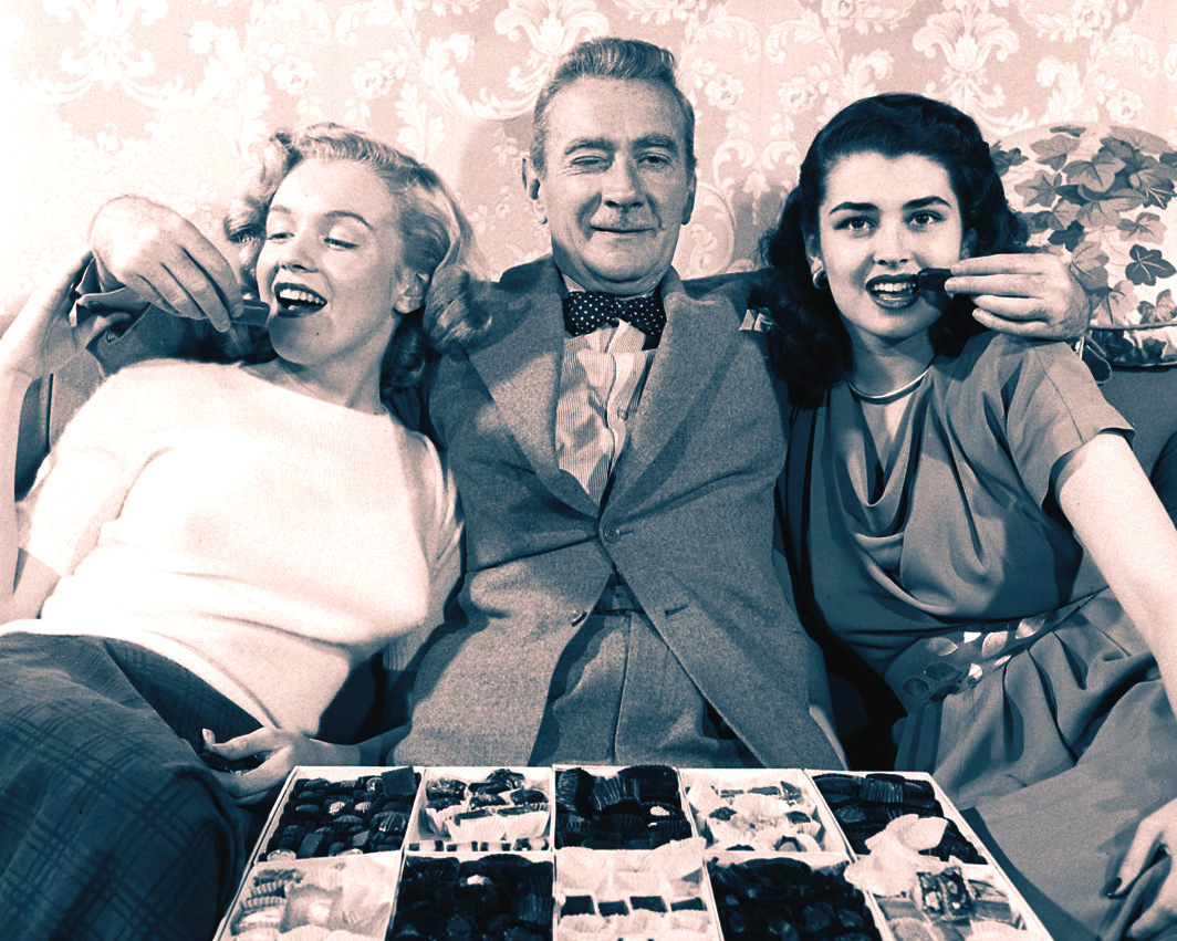 Marilyn Monroe, Clifton Webb (Mr. Belvedere No. 1) and Laurette Luez