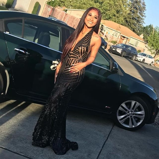 "I took time in planning the design placement on this dress. I also worked to ensure there's proper fit with without fear of ""wardrobe malfunctions"". When your clothes fit properly, you feel better and your confidence shines through.  this case, she's literally and naturally glowing.  #madebymsinstitches #msinstitches #prom #promdresses #califabrics #vallejo #seamstress #alterations #tailoring"