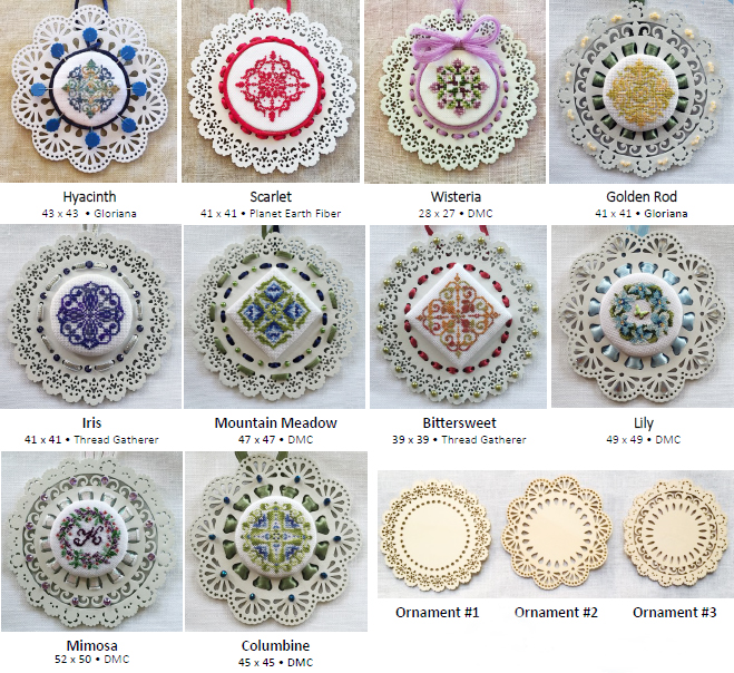 Laser Lace Ornament Series