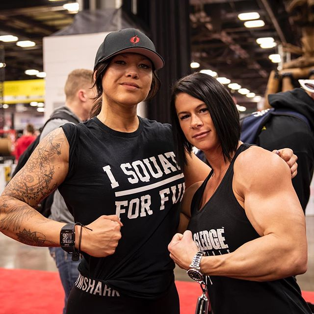 Arnold Expo day 1 was a blast! See you guys tomorrow @axeandsledge booth #1915! - - - #arnoldclassic2019 #arnold2019 #arnoldexpo #arnoldexpo2019 #arnoldclassic #axeandsledge #kristennun #girlswholift