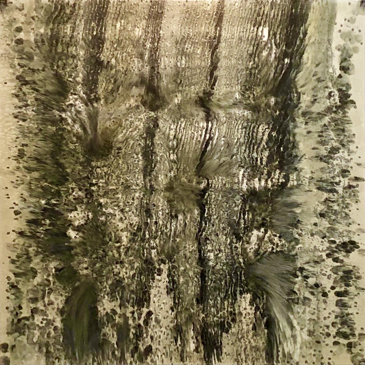 "FROZEN COSMIC/ BLACK VENOM   76"" x 76""  Oil on Canvas  2018"