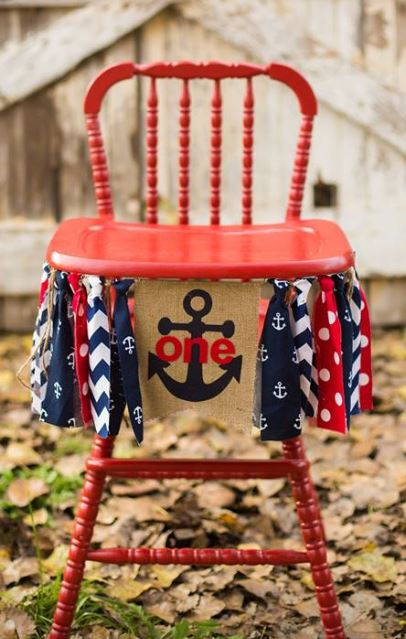 Red Vintage High Chair $35.00  Rent a Banner: $15.00  Colors based on availability