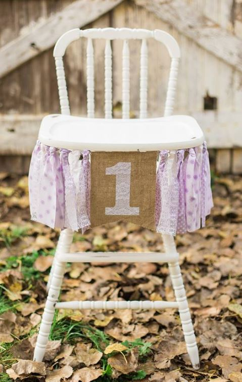 White Vintage High Chair $35.00  Rent a Banner: $15.00  Colors based on availability  Colors: Teal, Baby blue