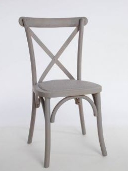 Copy of Crossback Chair, Antique Grey $10.25