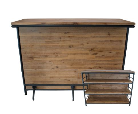 Cast Iron Natural Wood Bar $137.00