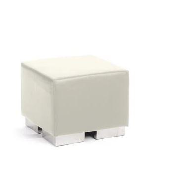 $ 25.00 Mondrian Cube White Ottoman