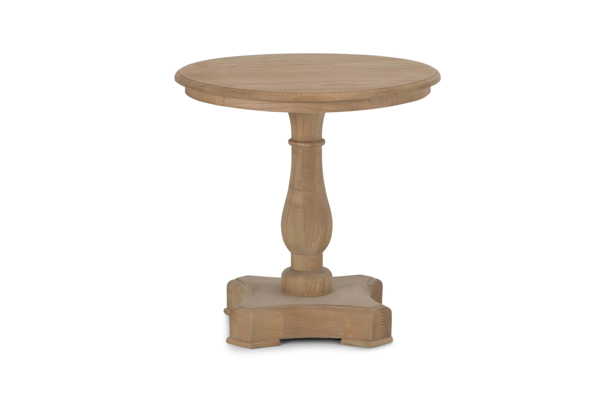 Balustrade End Table, Natural Oak