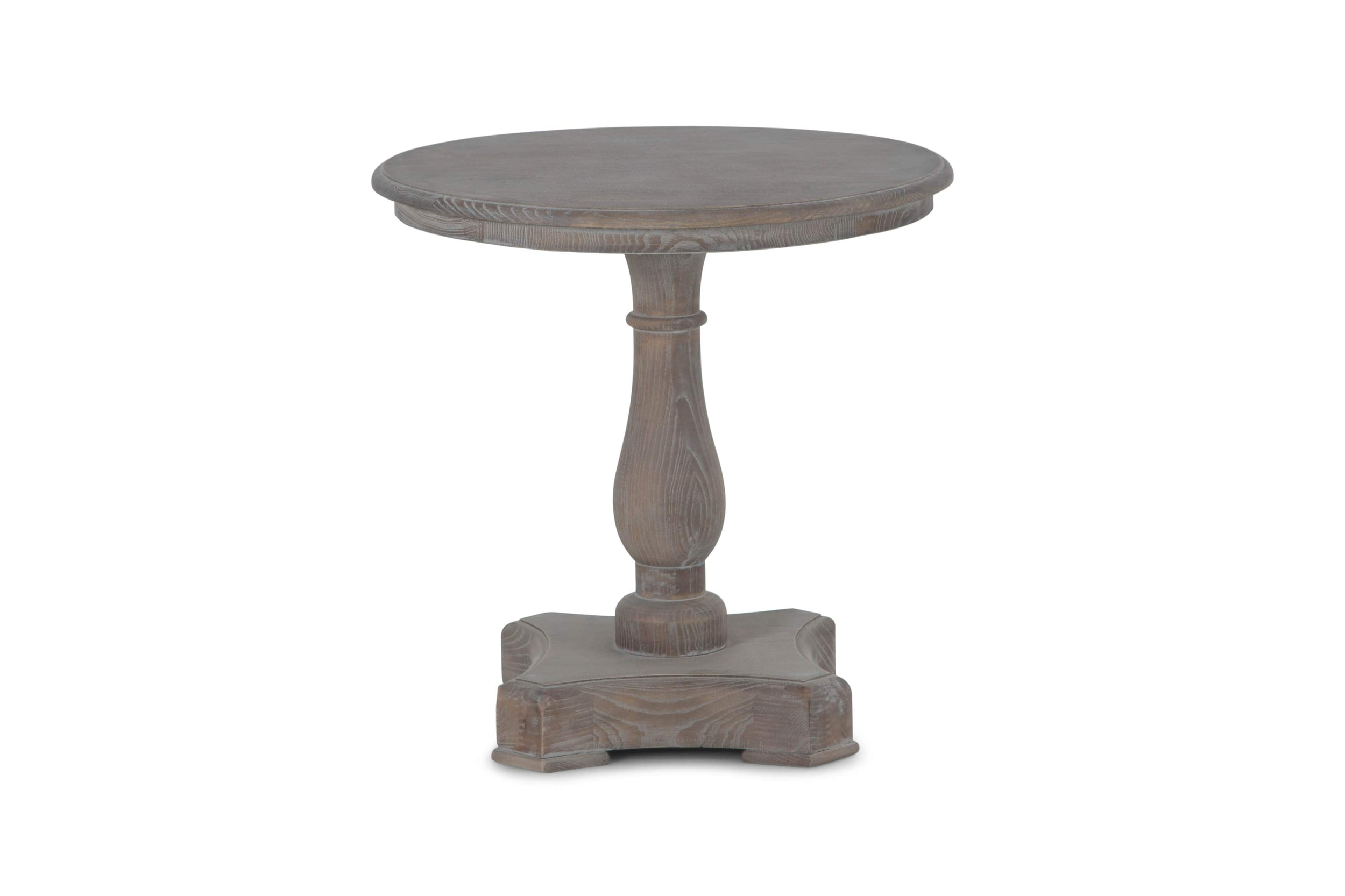 Balustrade End Table, Washed Grey