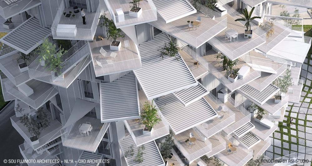 ©Sou Fujimoto Architects + NL*A + Oxo Architects ©Rendu par RSI-Studio