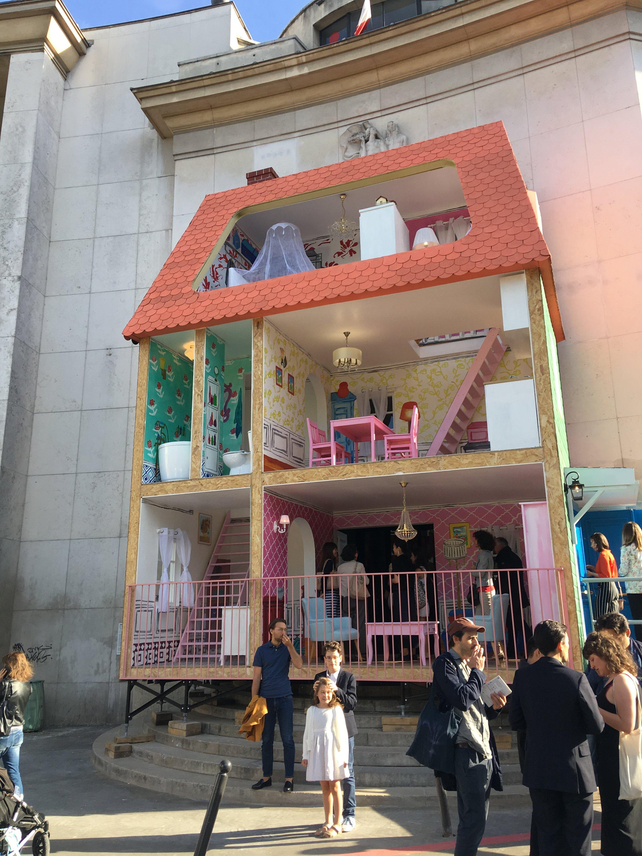 Amabouz Taturo (a.k.a. Tatzu NISHI), Une maison de poupée, 2018, Palais de Tokyo, Photo: ASIA NOW
