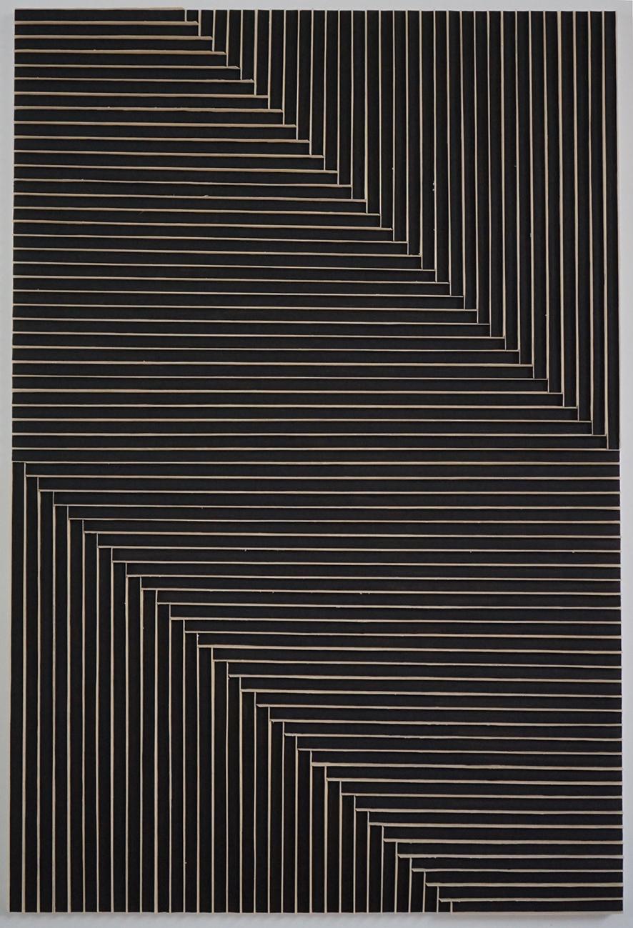 Nam Tchun-Mo,  Beam 16-34,  technique mixte sur toile, 195x130cm, 2016. Courtoisie de l'artiste et d'ART'LOFT/Lee-Bauwens Gallery