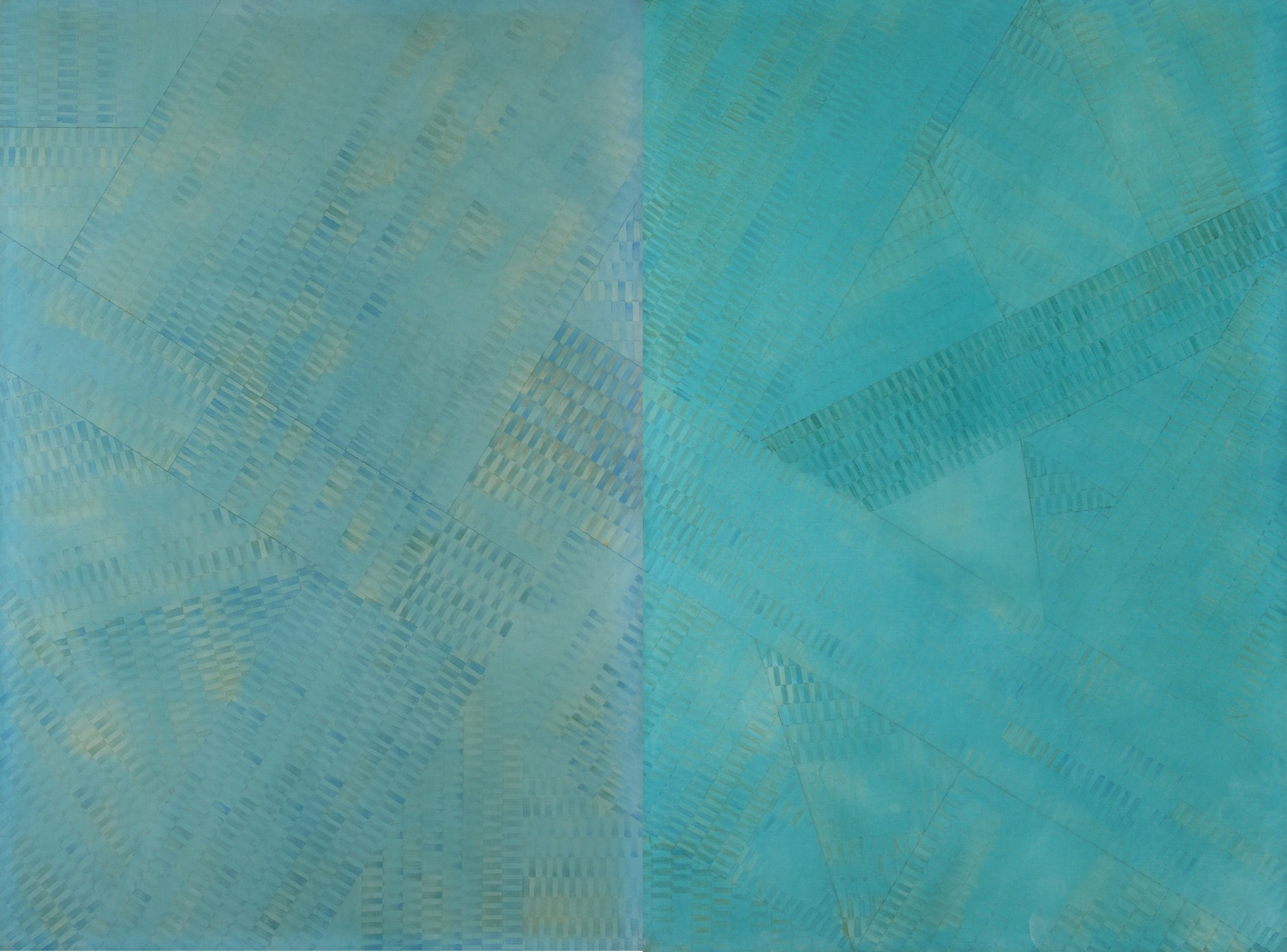 Itami Jun Ryu,  Manhattan Series Diptych,  oil on canvas, 193.9x260.6cm, 1995. Courtesy of the artist and The Columns Gallery.