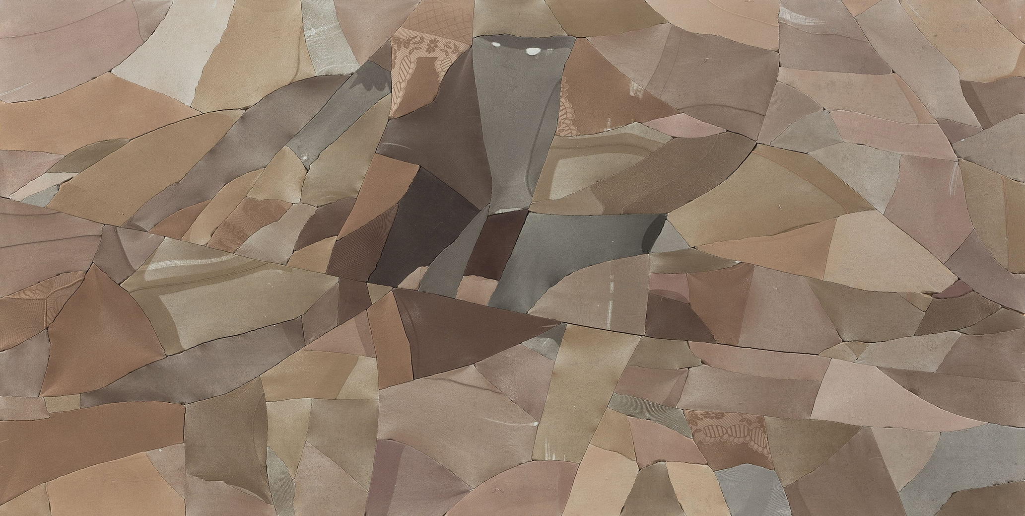 Ma Qiusha, Wonderland Ravine, 2016, Cement, nylon stocking, plywood, resin, steel, 123 x 245 x 5.5 cm. Courtesy of the artist & Beijing Commune.