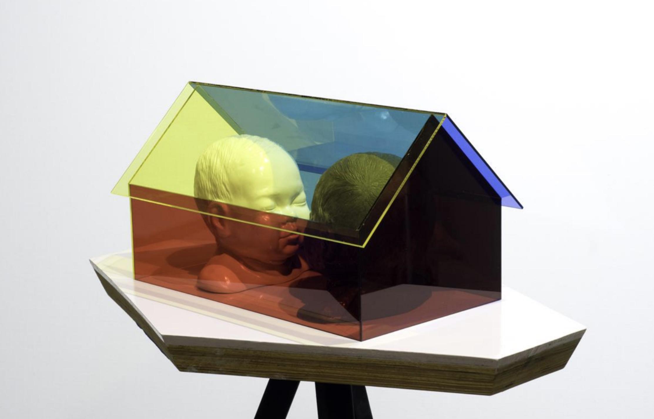 David Chan , Housed , 2017, Porcelain and Acrylic Box 36 x 21 x 21 cm. Courtesy of the artist & Art Seasons.
