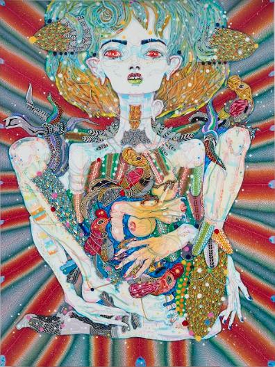 Del Kathryn Barton deep pop, 2018 acrylic on French linen 200 × 220 cm. Courtesy the artist & A3
