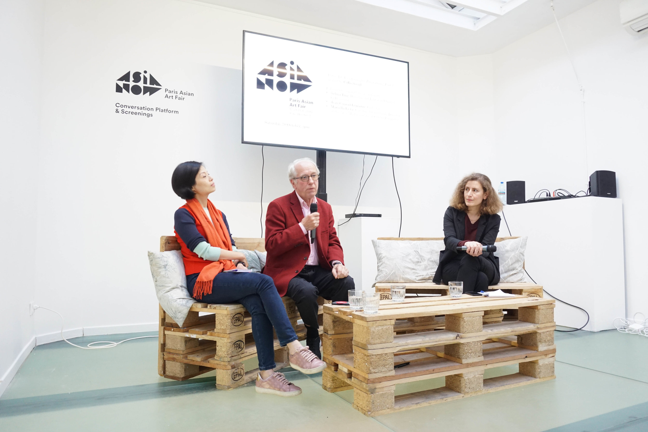 Selina Ting, director and editor-in-chief of Cobo Social,  Isabelle and Jean-Conrad Lemaître, collectors, and Marcella Lista, curator, art historian, Centre Pompidou