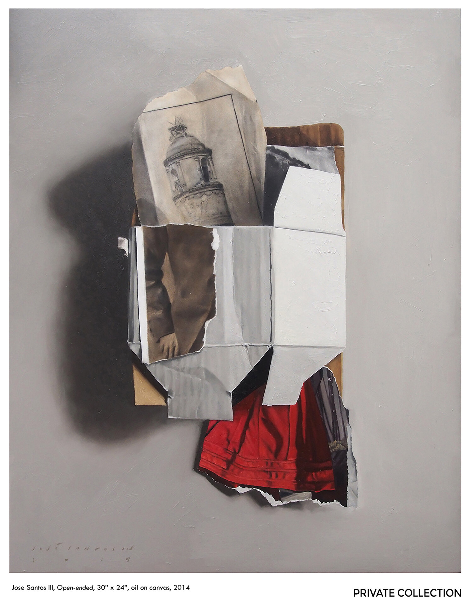 "Jose Santos III,  Open-ended , 2014, Oil on canvas, 30"" x 24"". Courtesy of the artist and The Drawing Room."