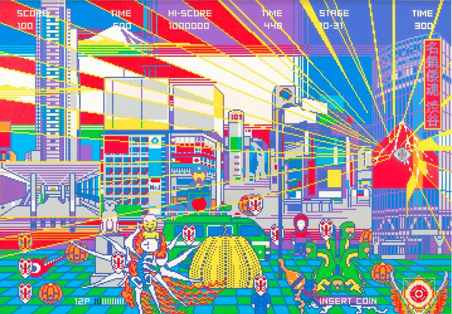 YOHINORI TANAKA, MEIKYO YAMATODAMASHII SHIBUYA, 2018. 732x508cm