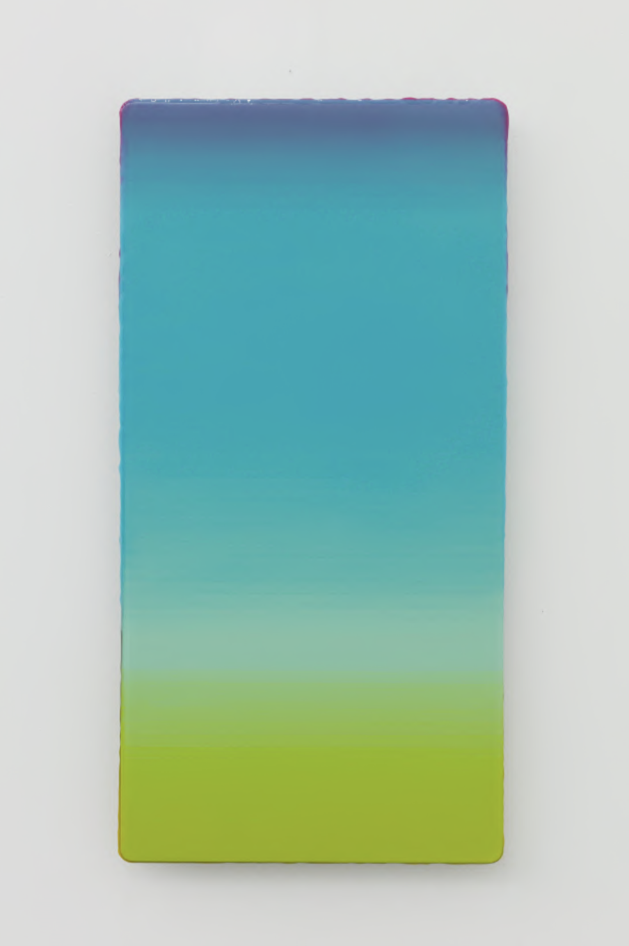 Wang Yi,  Panorama 2018-7 , mixed media on aluminum, 60×30cm, 2018. Courtesy of the artiste and the HdM Gallery.