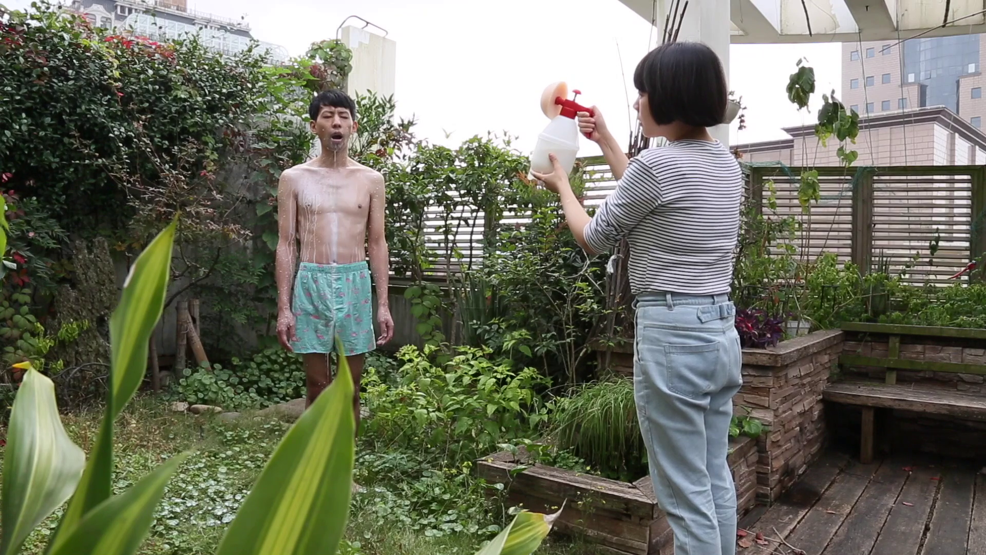 Pixy Liao,  Breast Spray , 2015, Video 2 mins 1 sec. Courtesy of the artist and Chambers Fine Art.