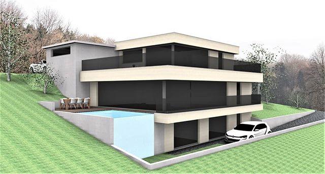 Einfamilienhaus Neubauprojekt im Aargau  Lange ist es her, seit wir uns auf Insta haben blicken lassen. Dafür haben wir in der Zwischenzeit viel getan und können euch über den Sommer einige neue Projekte vorstellen.  #planbude #architektur #planung #beratung #entwurf #3ddruck #visualisierung