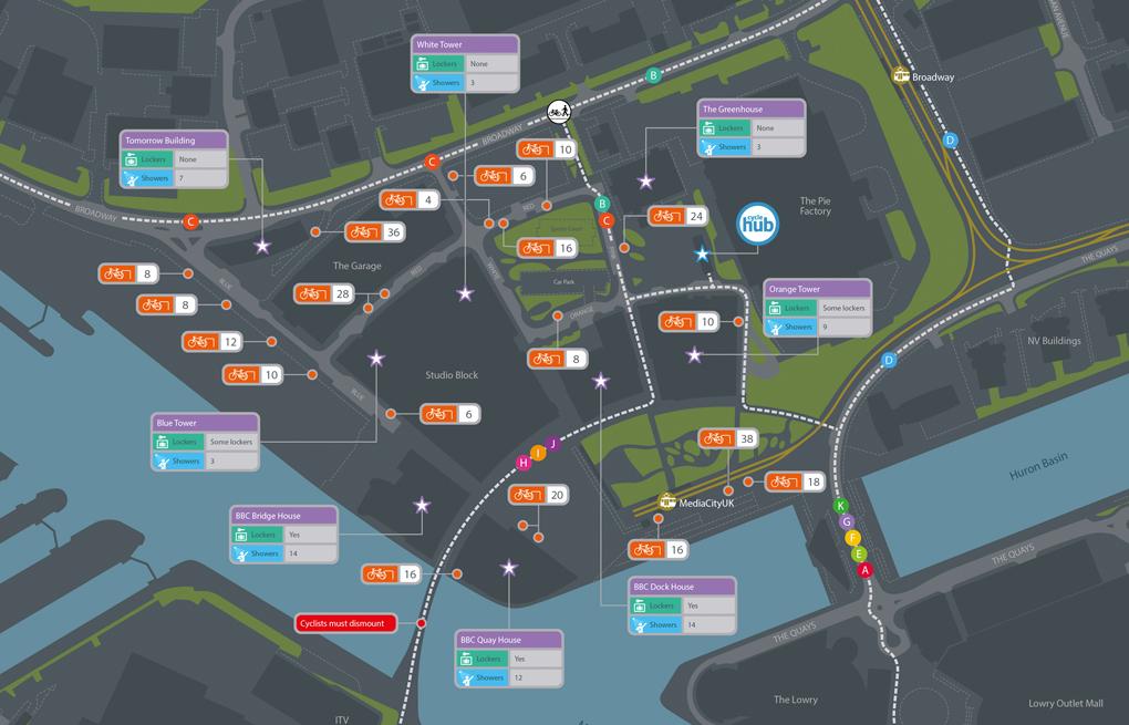 MediaCityUK - Find cycle facilities and routes across MediaCityUK.