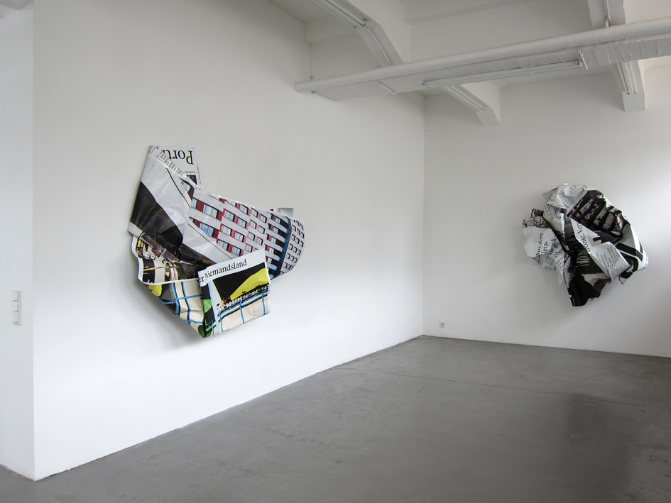 "Olaf Metzel: ""Niemandsland"", 2012, Exhibition views Galerie Parisa Kind, Frankfurt am Main"