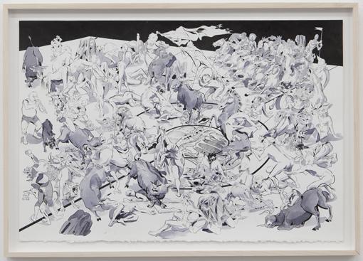 TD 2011 Bullfight or Basketball Tusche und Bleistift auf Papier 60x42,5cm.jpg