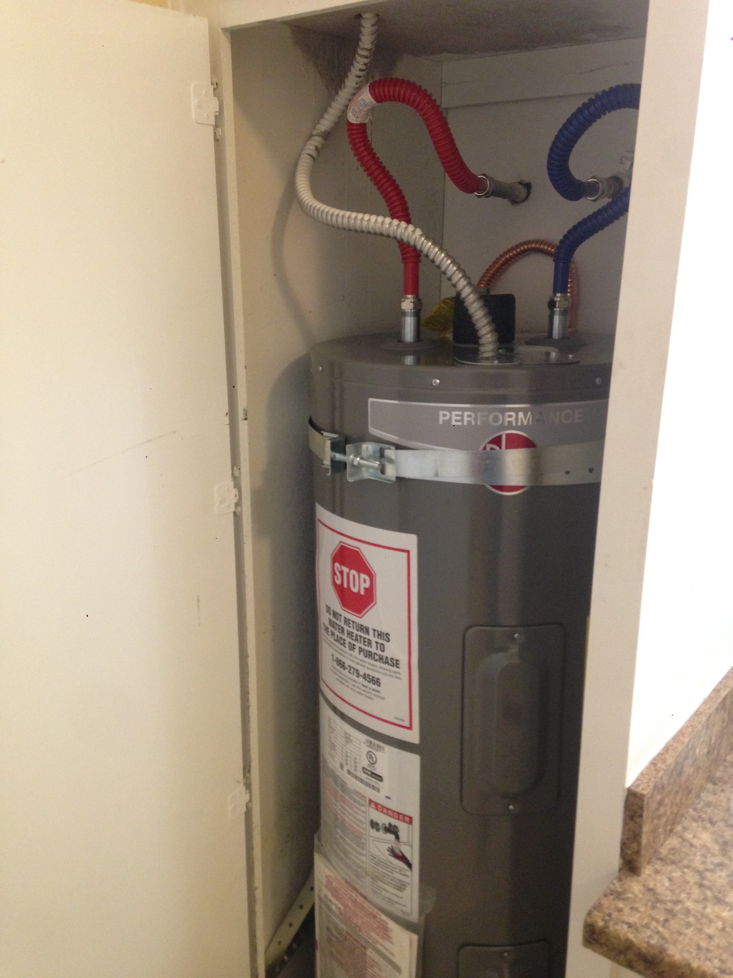 After - New Water Heater Installed