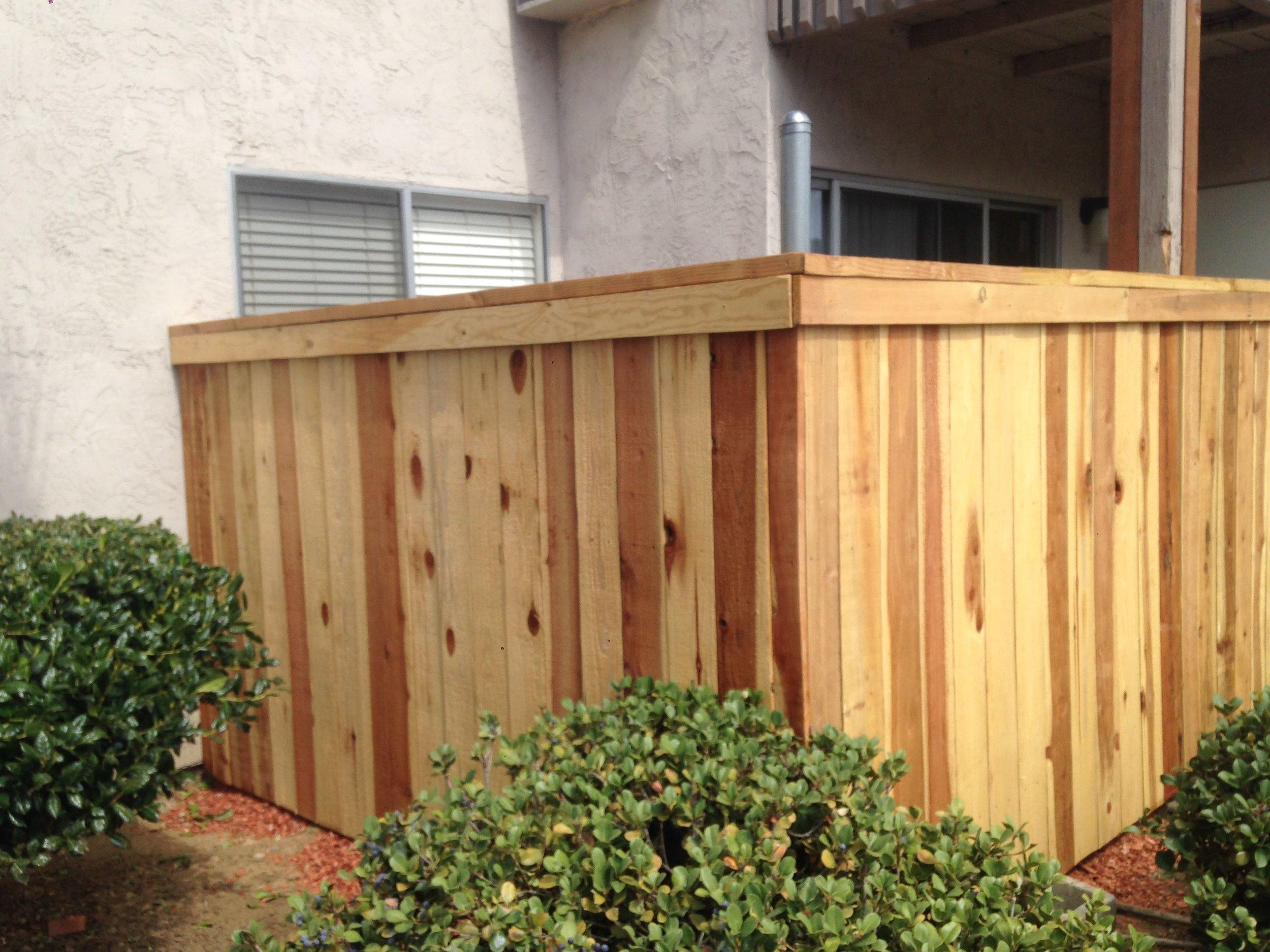 Finished Patio Fence 2