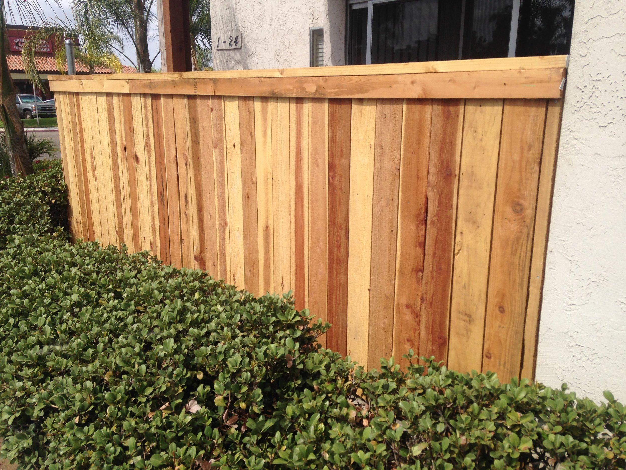 Finished Patio Fence 1