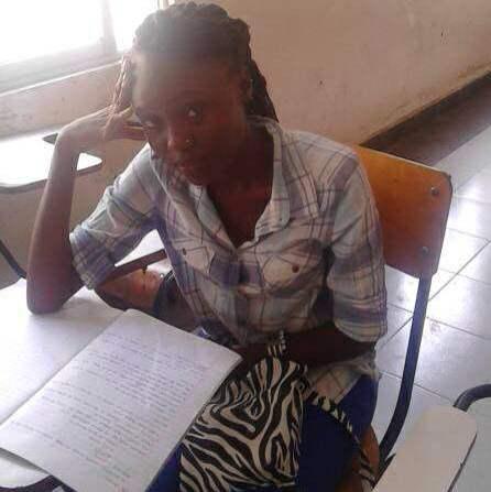 Josephine looking very studious!