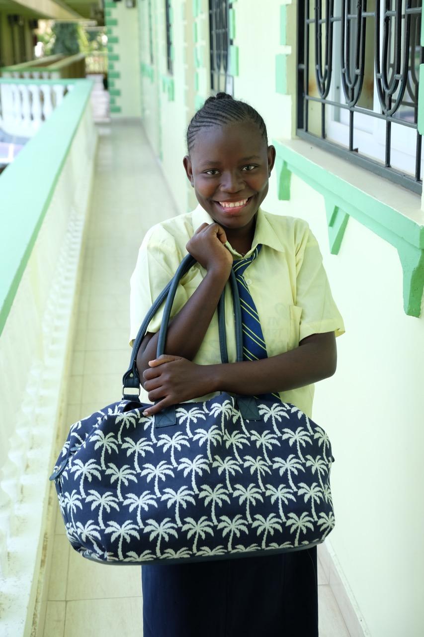 Tamira with her smart new bag
