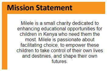 Milele Mission Statement