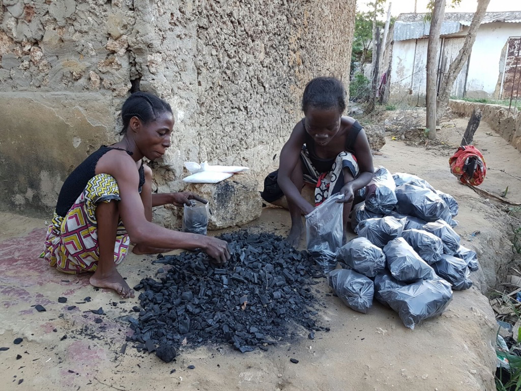 Charcoal packing -