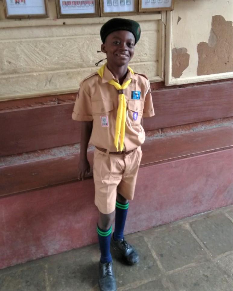 Edward in his uniform - Dyb dyb dyb