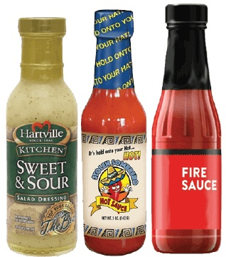 Woozy Bottle Labels for Sauces, Condiments, Flavor Vinegar, Herbs, Spices, Marinades, Olive Oil, Salad Dressing