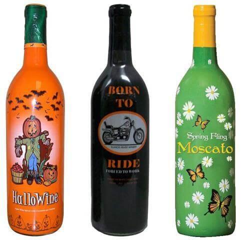 Colorful Custom Shrink Sleeves for Wine Bottles