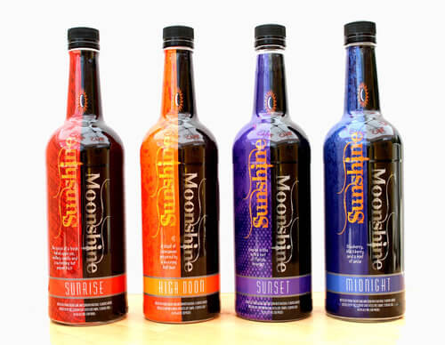 Bright Vivid Color Wine Bottles