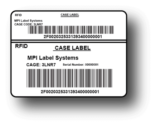 RFID Tag for Case Label