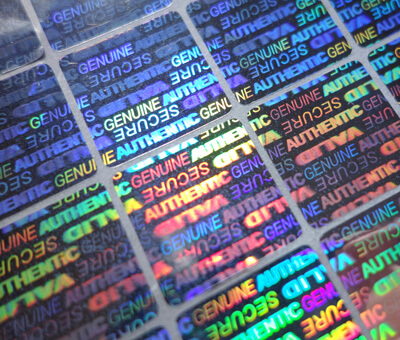 Custom Holographic Security Labels