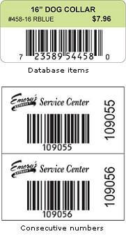 Variable Data (Sequential Barcoded) Labels