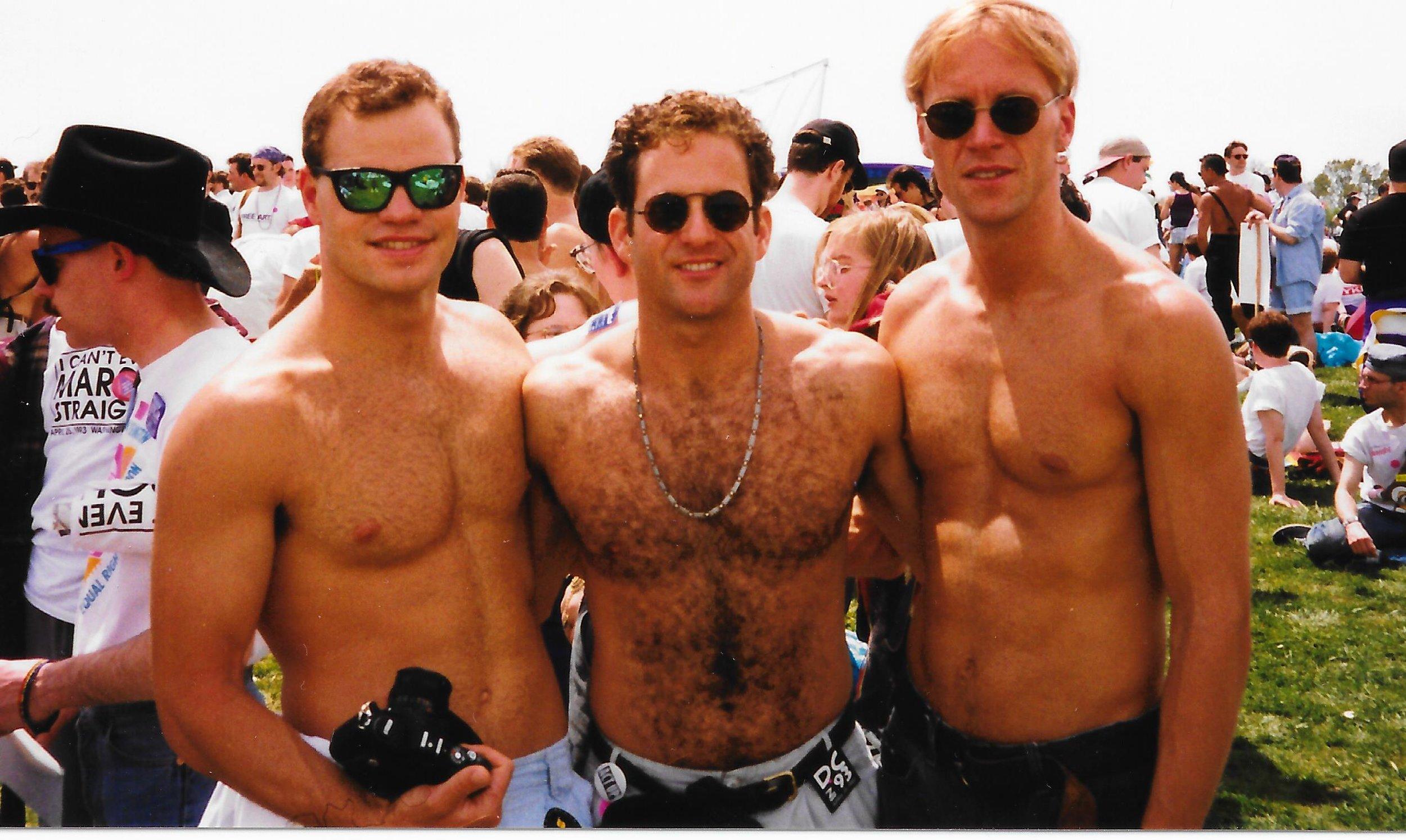 1994 Gay Games IV - Marty Sarussi, Steve Gilberg, Damon Mackert