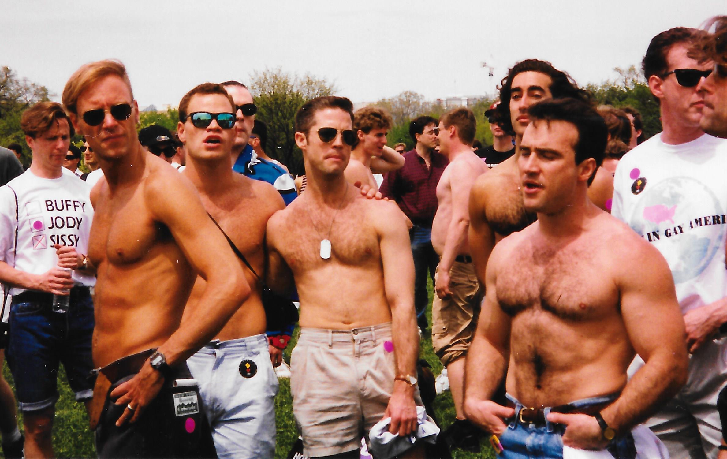 1993 March on Washington - Damon Mackert, Marty Sarussi, Greg Walter, Seth Hoff, Steve Knox, Dick O'Brien