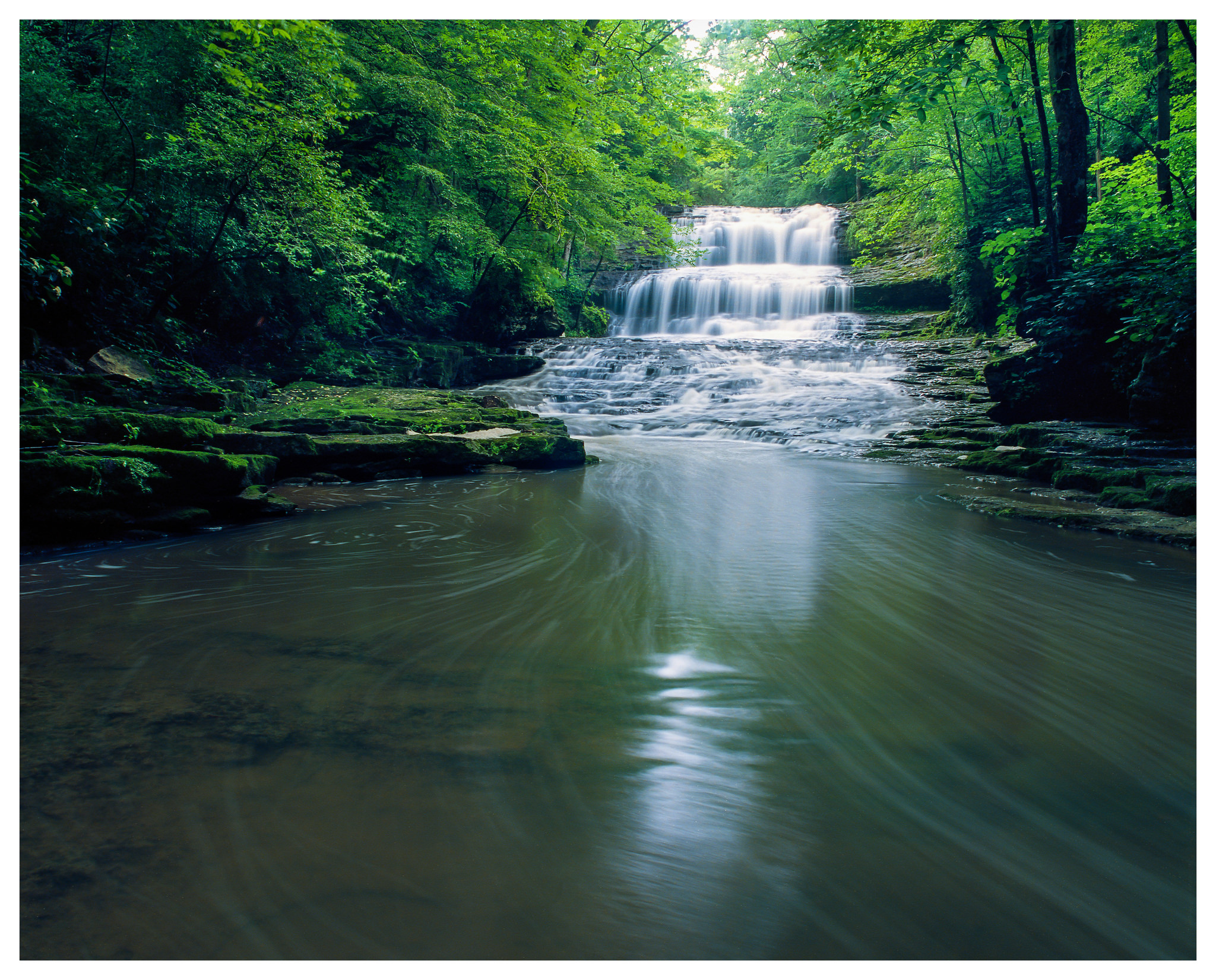 Fallsville Falls – Mamiya RB67 ProS w/50mm lens, polarizer, and 4-stop ND filter @ f/16, 90 seconds