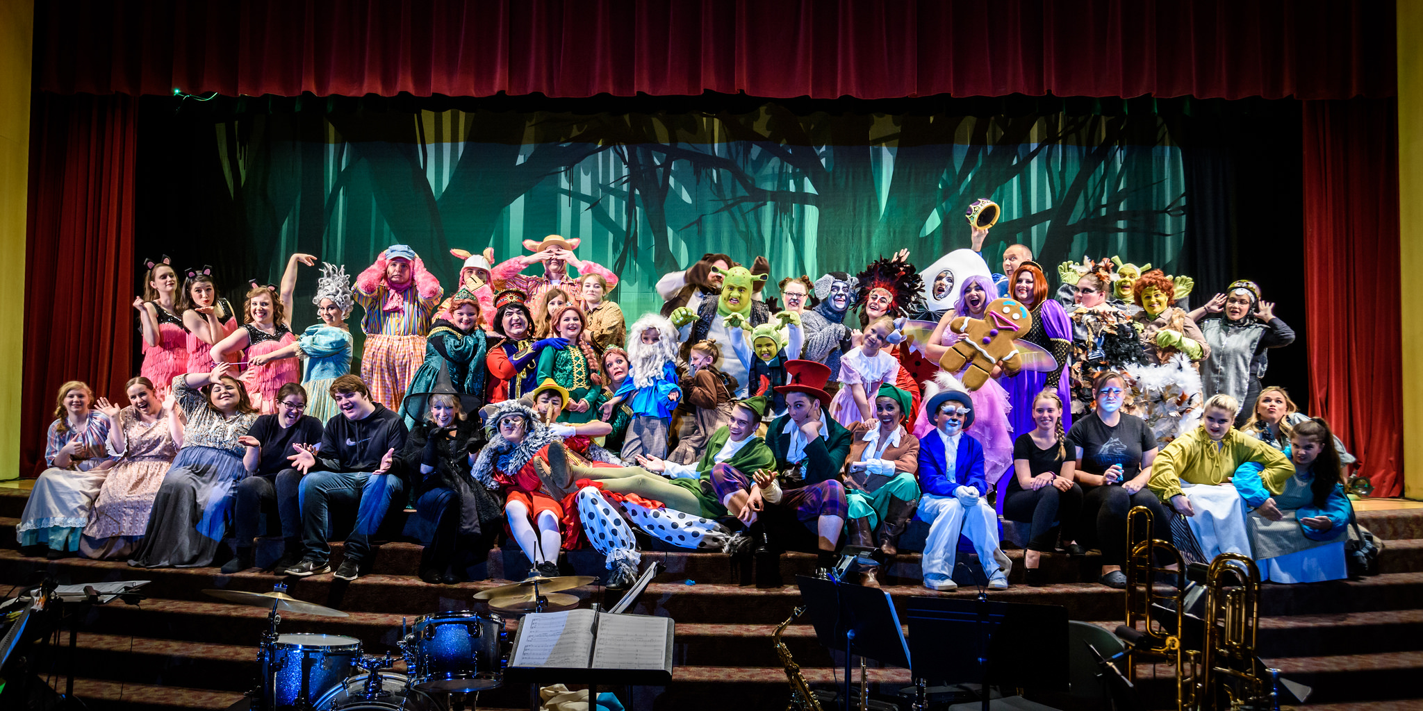 The entire cast of Shrek the Musical